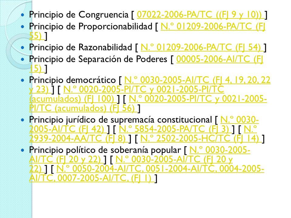 Principio de Congruencia [ 07022-2006-PA/TC ((FJ 9 y 10)) ]